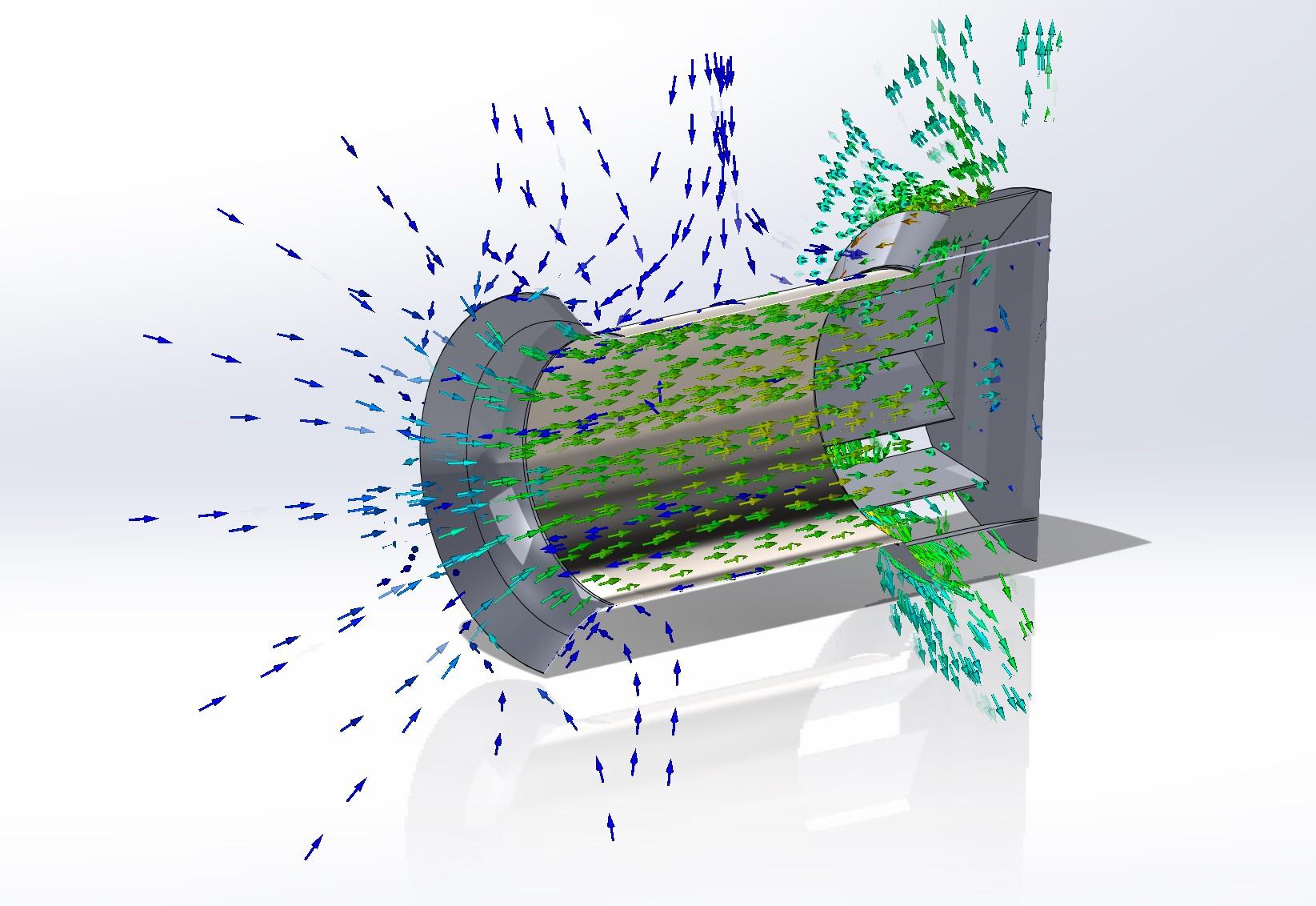 Tek-Dry Systems Fan Flow Simulation