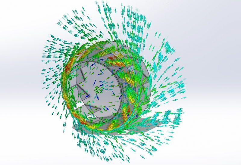 Tek-Dry Systems Fan Impeller Flow Simulation