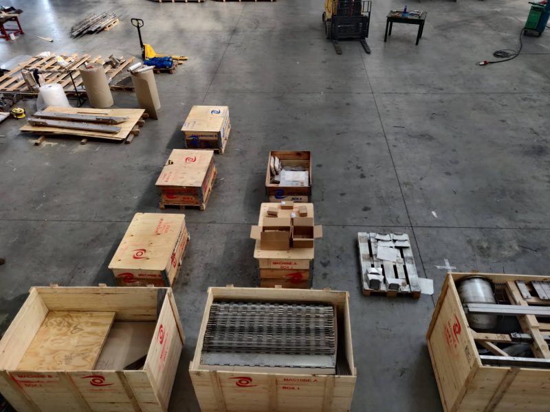 Tek-Dry Systems Factory Floor and Pallets
